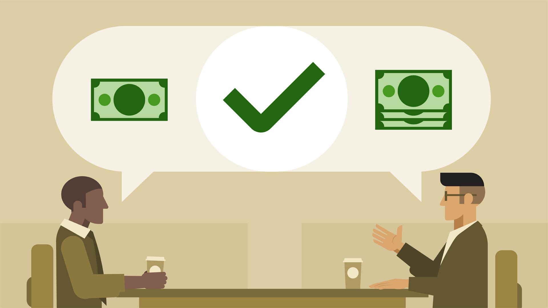 tự tin thể hiện năng lực để đàm phán lương